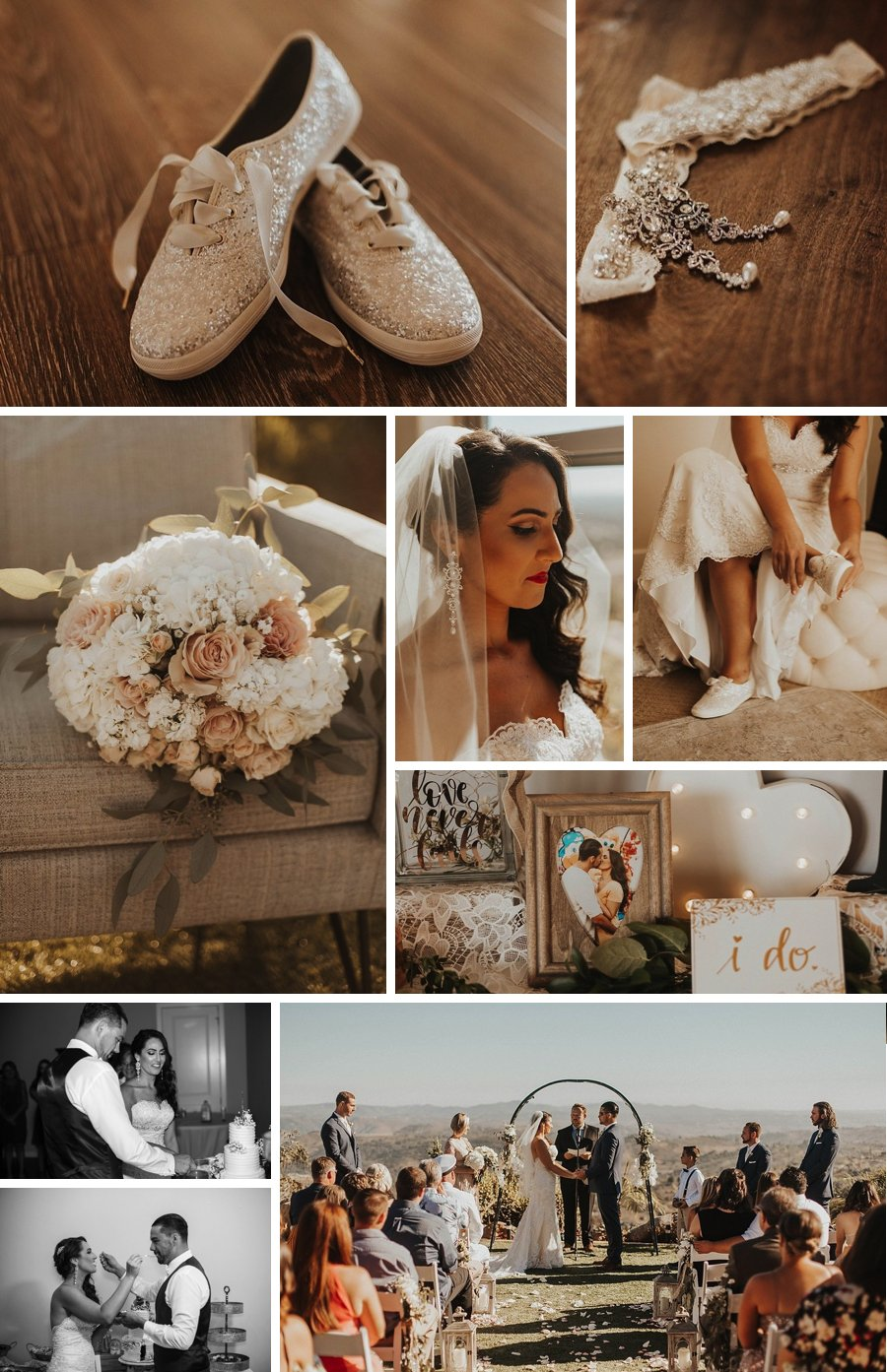 Real wedding: Californian hilltop and tacos