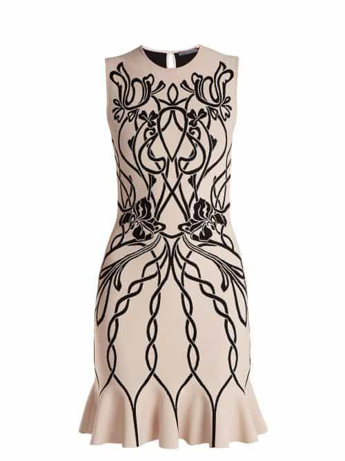 Alexander Mcqueen – Art Nouveau Intarsia Sleeveless Dress – Womens – Pink Multi