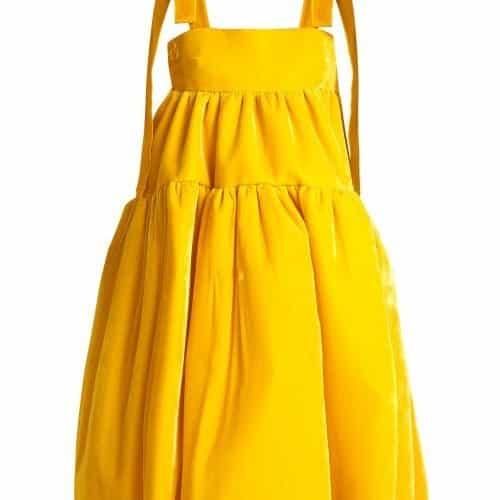 Cecilie Bahnsen – Bey Velvet Dress – Womens – Yellow