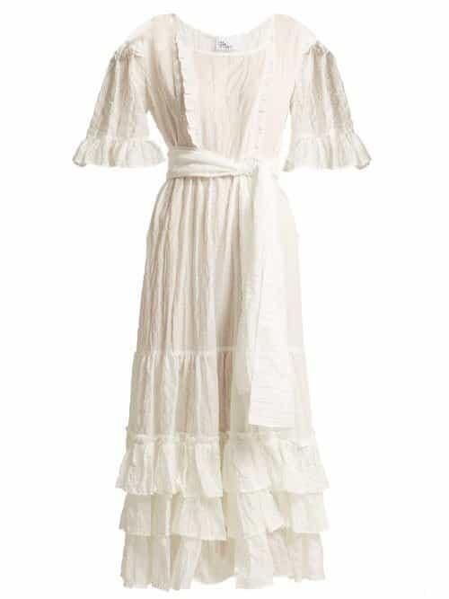 Lisa Marie Fernandez – January Seersucker Dress – Womens – White Stripe