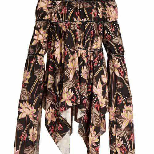 Loewe – X Paula's Ibiza Floral Print Crepe Dress – Womens – Black Print