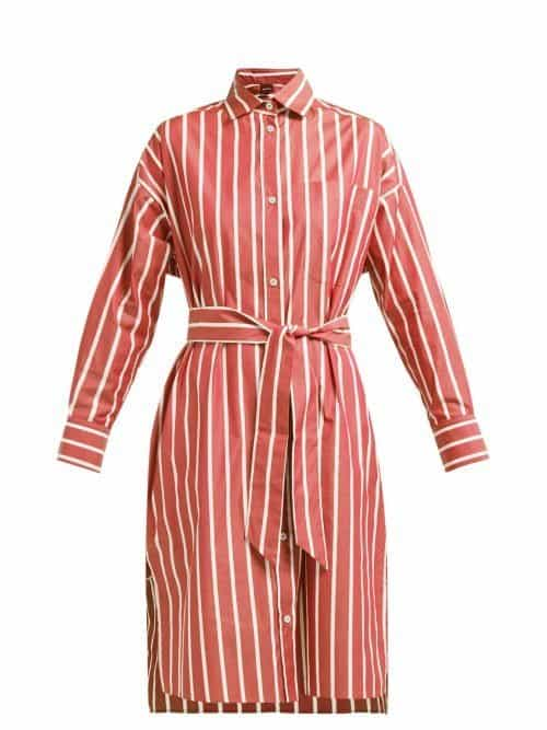 Max Mara Beachwear - Miglio Shirt Dress - Womens - Red