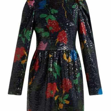 Msgm – Sequin Embellished Mini Dress – Womens – Black Multi