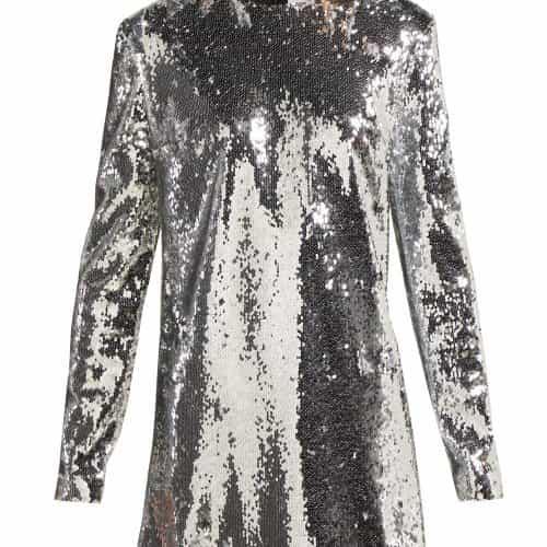 Racil - Ara Sequinned Mini Dress - Womens - Silver