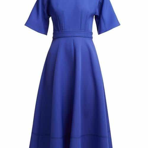 Roksanda - Maja Bias Cut Cady Midi Dress - Womens - Blue