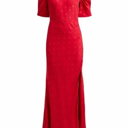 Saloni - Annie B Silk Dress - Womens - Red Multi