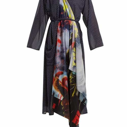 Vetements - Scarf Robe Dress - Womens - Navy