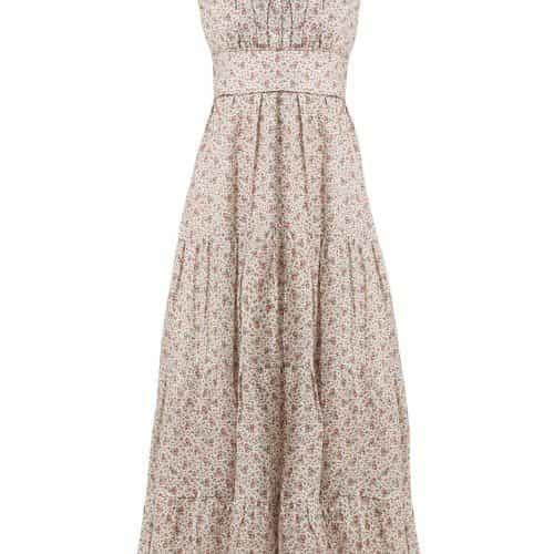 Zimmermann - Heathers Tiered Floral Print Linen Dress - Womens - White Print