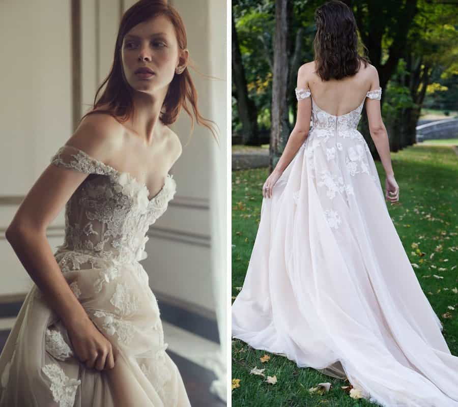 Wedding dress collection: Monique Lhuillier Fall 2019