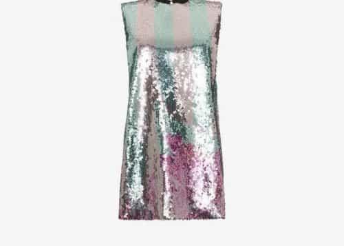 Halpern sequin embellished mini dress