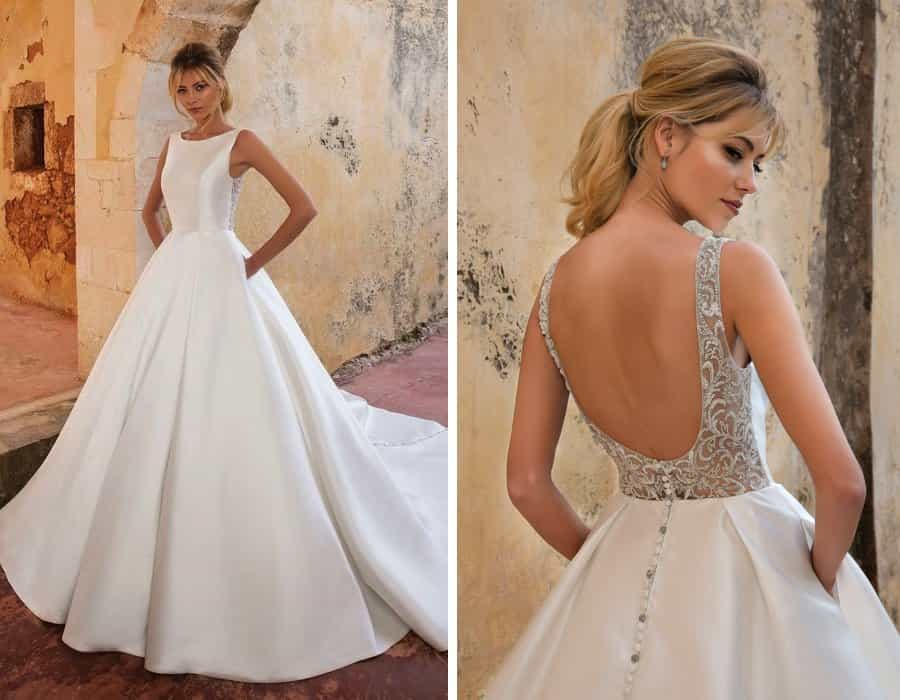 Luxury wedding dress details - pockets!