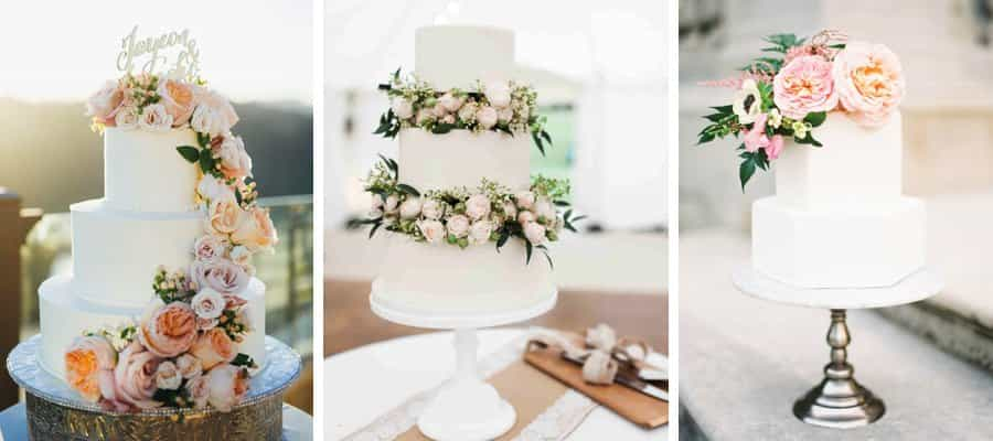 Five ways to do floral wedding cakes