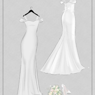 Wedding dress style: The Sheath shape