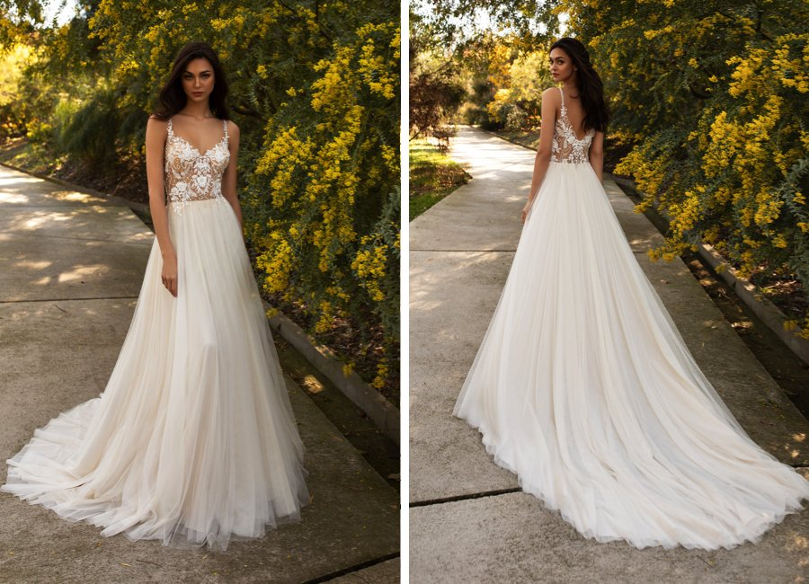 Wedding dress style: The A-line shape