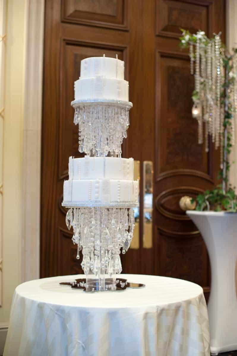 floating chandelier cake