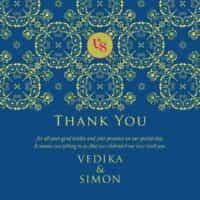 mandala love classic blue thank you card from £4 ananyacards.com