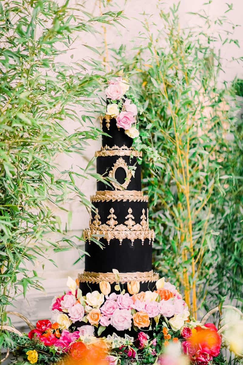 rococo black baroque cake elizaethscakeemporium