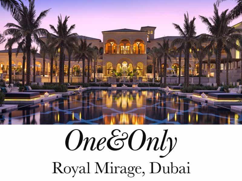 Luxury Honeymoon One Amp Only Royal Mirage Dubai Uae