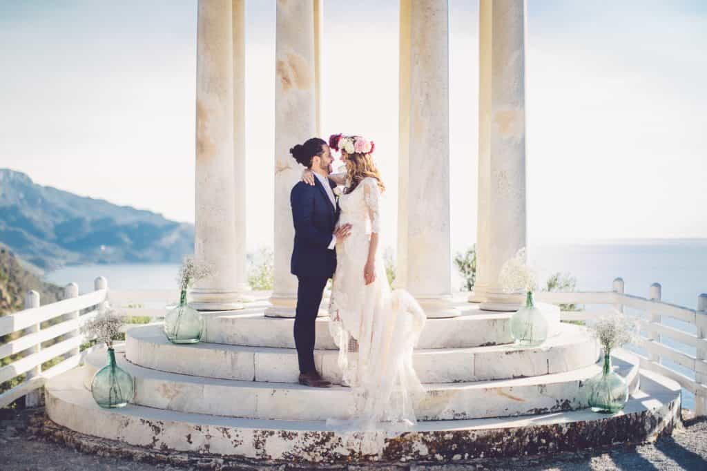 Bride and Groom by Alago Events