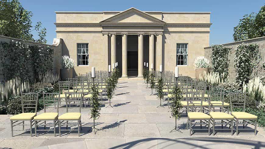 Wedding Garden Royal Cresent Hotel