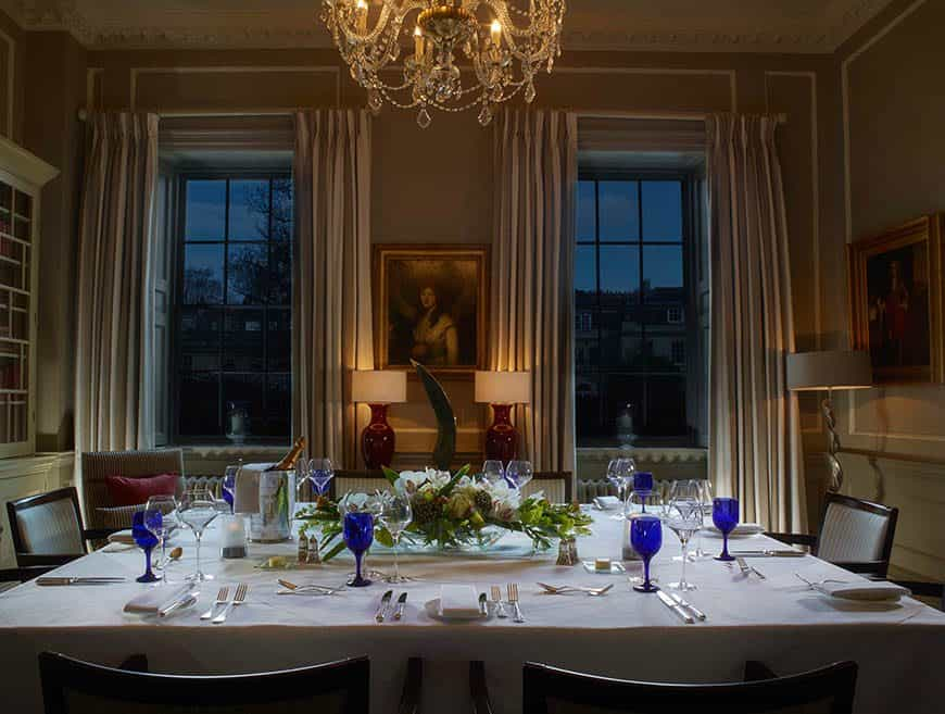 The Library Set for Evening Private Dining