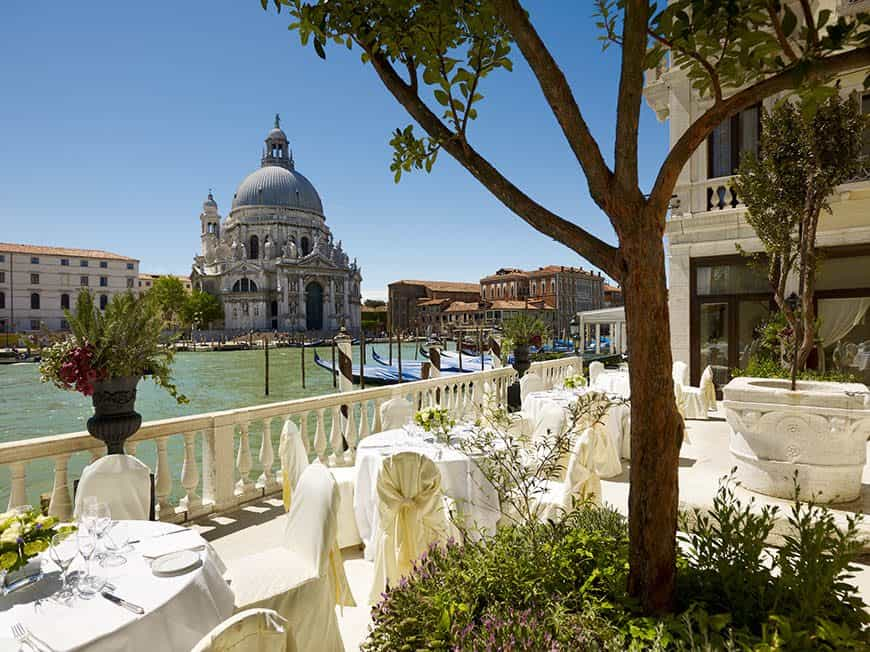 La Terrazza sul Canal Grande wedding setup Venice