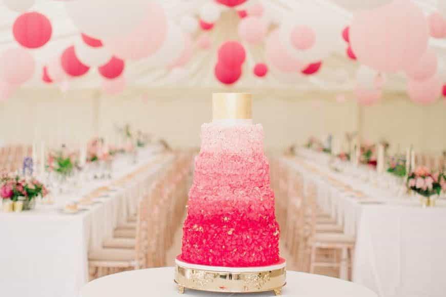 Luxury wedding planner London | Lamare London | Wedding cake | Marquee wedding