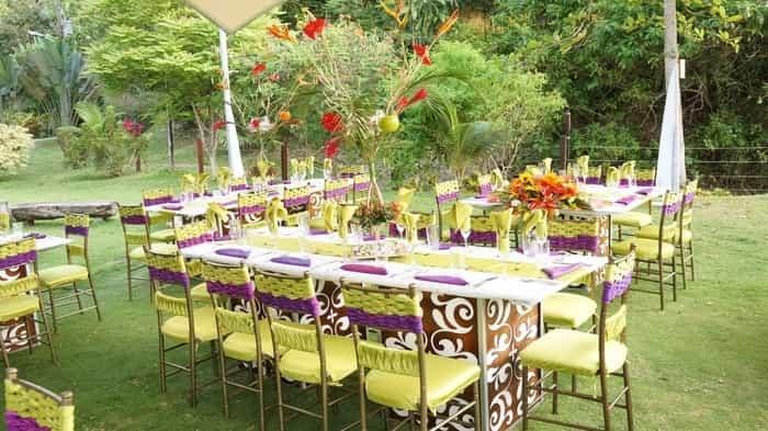 Wedding Breakfast Outside