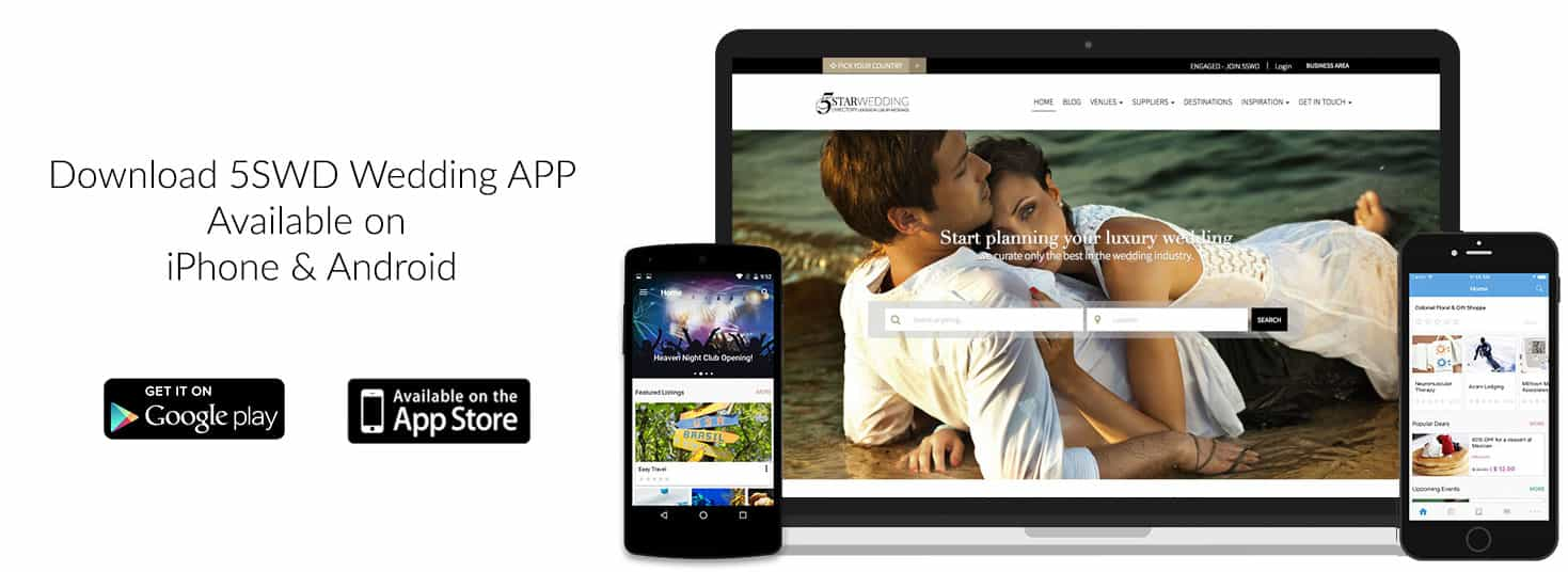 5 Star Wedding Directory on Mobile