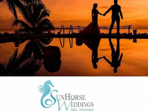 Sunhorse Weddings Sunset Newlyweds