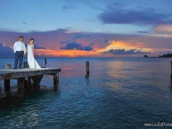 Sunhorse Weddings Caribbean Ocean Newlyweds Sunset